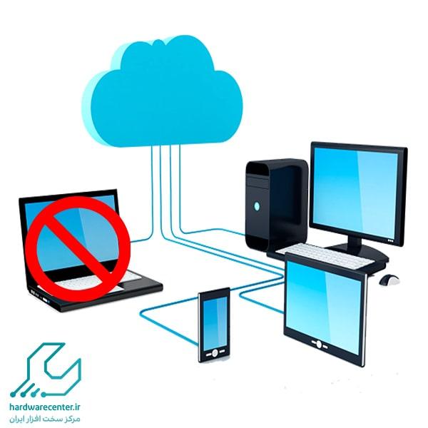 دیده نشدن کامپیوتر در شبکه